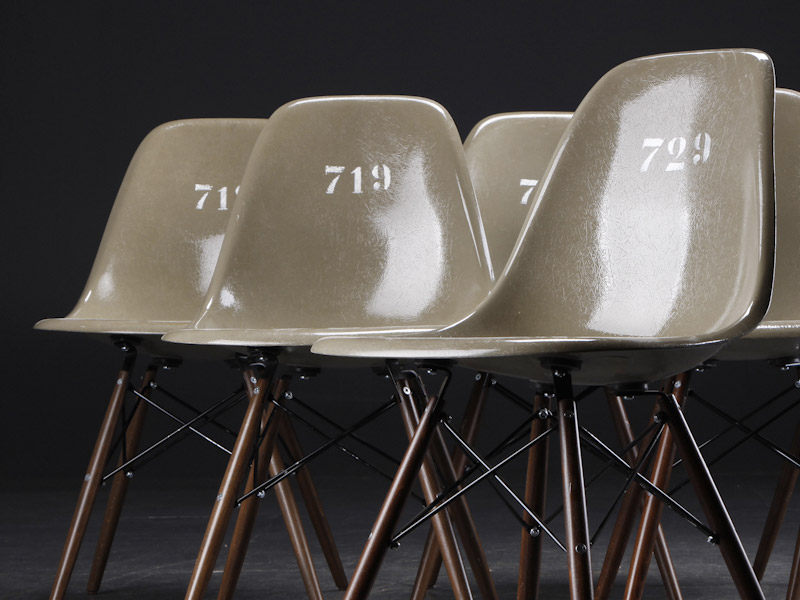 Herman Miller Eames DSW Army Issue chairs