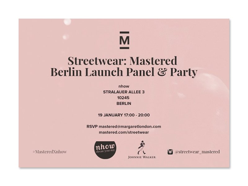 Streetwear: Mastered, Berlin Launch Panel