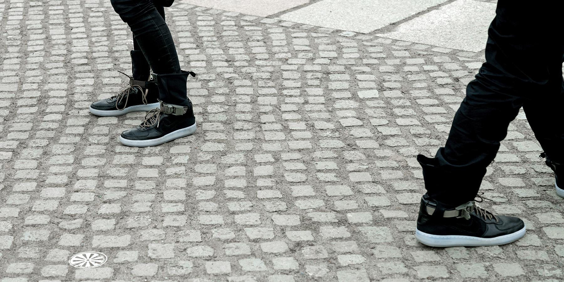 NikeLab Shanghai x ACRONYM® AF1 Downtown Berlin Launch - Errolson Hugh AF1s by Alex Mealand