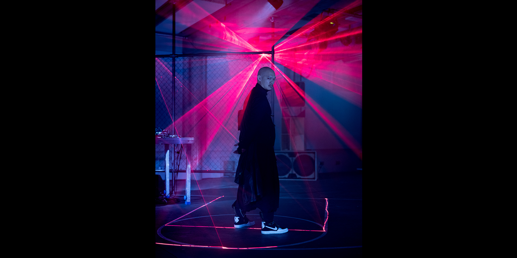 NikeLab Shanghai x ACRONYM® AF1 Downtown Berlin Launch - Errolson Hugh Laser by Jennifer Bin