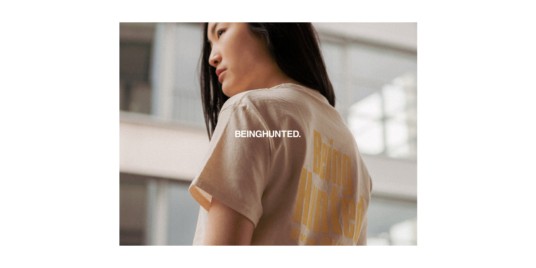 BEINGHUNTED. Spring/Summer 2017 Tunnel T-shirt Natural