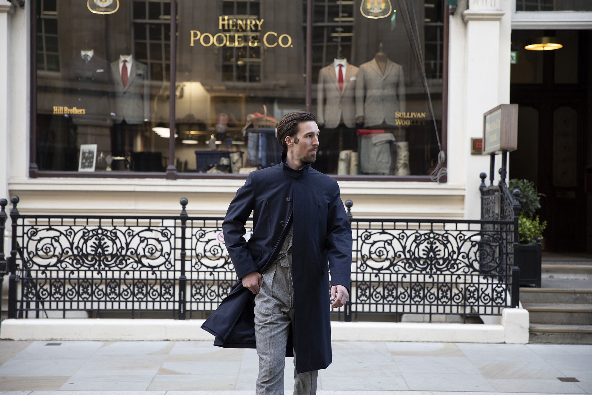 Henry Poole & Co Gore-Tex Brand Travel Trench